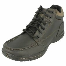 Mens Skechers 62854 Selton-Deside Black Leather Casual Ankle Boots
