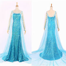 Sexy Blue Bling Snow Queen Adult Women Party Dress Costume Dresses Prom Ballgown