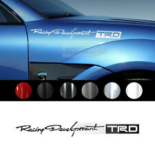 "Universal All Vehicle ""TRD Racing"" Racing Sports Decal Sticker 6 Color 8.8""x1.0"""