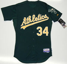 DAVE STEWART AUTHENTIC OAKLAND ATHLETICS MAJESTIC MLB COOL BASE ALTERNATE JERSEY