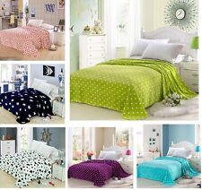 Flannel Soft Plush Bed Sleep Blanket Warm Flat