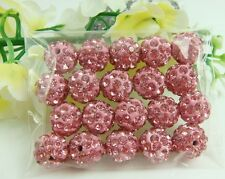 10mm Disco Ball Clay Pave Crystal bead for Shamballa Accessories Wholesale Lots