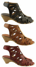 BIRTHMARK STATION WOMENS/LADIES LEATHER STYLISH STRAPPY SHOES/SUMMER SANDALS