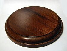 "Display Plinth Mahogany 4"" to 8"" dia. Figurines, Models, Bonsai, Taxidermy (OV)"