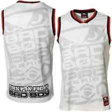 NEW! Bad Boy Mens Jersey Shirt - Black or White - MMA BJJ UFC Jiu Jitsu Badboy