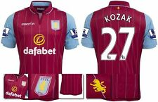 *14 / 15 - MACRON ; ASTON VILLA HOME SHIRT SS + PATCHES / KOZAK 27 = SIZE*