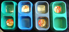 1 Dog or Cat Double-Dish Food & Water Bowl Solid Plastic Small Pets Pet King New