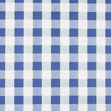 BLUE & WHITE GINGHAM DESIGN PVC VINYL WIPE CLEAN TABLECLOTH SAMPLE AVAILABLE