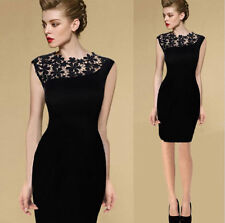 Sexy Women Lace Short Sleeve Slim Bodycon Evening Party Cocktail Clubwear Dress