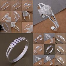 New Wholesale XMAS Gift Jewelry Solid Silver Lady Bangle/Bracelet S925+Bag