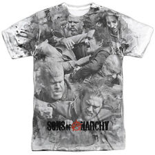 Sons of Anarchy Biker Gang Action TV Show SamCro Brawl Adult Front Print T-Shirt