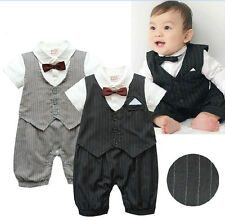 NWT Baby Boy Clothes-Boys Tuxedo Suit Christening Wedding Formal(NEWBORN)