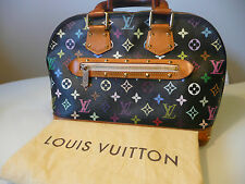 AUTH. LOUIS VUITTON ALMA MULTICOLOR BLACK PM M92646 RETAIL: 2740 $