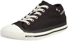 Diesel Exposure Low Black White Womens Canvas New Trainers Shoes Boots