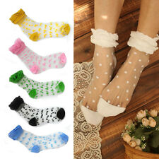 WOMENS LADIES MULTICOLOR SEXY FRILLY LACE RUFFLE SHORT ANKLE SOCKS ANKLETS