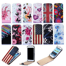 Deisgner Slim Vertical Flip PU Leather Cover Case Pouch for Various Phone