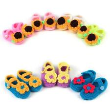 Flower Style Newborn Infant Baby Girls Crochet Knit Sandals Booties Crib Shoes