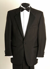 DJ-2 MENS FORMAL ONE BUTTON DINNER SUIT, FULL SUIT PACKAGE, EVENING WEAR