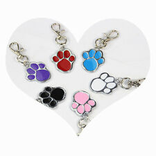 DIY Dog Cat ID Tags Paw Shaped Cute Stainless Collar Charm Pet Tag Supplies