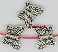 50pcs tibet silver nice exquisite butterfly jewelery charm spacer bead 10.5x8mm