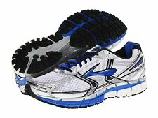BROOKS ® ADRENALINE GTS 14 (2E) WIDE WIDTH WHITE SILVER MEN'S RUNNING SHOES