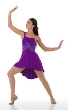 Ballet Lyrical Dance Costume Dress Purple Sequin BEAUTIFUL New GROUPS!  6X7-3XL