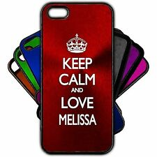 Keep Calm and Love MELISSA Phone Case - Apple iPhone Samsung Galaxy 3 4 5 NEW