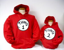 THING 1 2 3 4 5 6 HOODIE HOODED HEAVYWEIGHT SWEATSHIRT THING ONE HOODIE ALL NEW