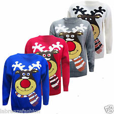 Labreeze Ladies Womens Reindeer Christmas Xmas Gift Cable Knitted Jumper