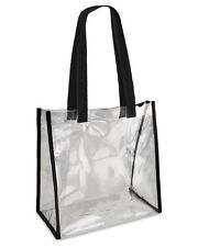 Valubag Black Accent Clear Tote Bag VB5004 See Through Sports Bag