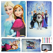 Cartoon Disney Frozen PU Leather Smart Cover Case Gifts For iPad Air 5 5th 2013