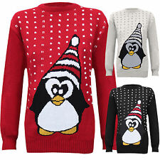 WOMENS LADIES SANTA HAT XMAS JUMPER KNITTED NOVELTY SWEATER WINTER CHRISTMAS TOP