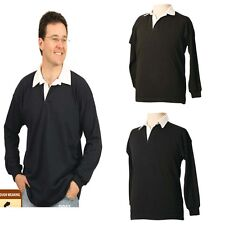 NEW MENS POLO RUGBY GRANGE TSHIRT TOP LONG SLEEVE BLACK NAVY SHIRT BUY NOW CHEAP