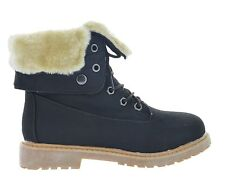 New Women Winter Snow Lace Up Flat Fur Lined Fashion Mid-Calf Boot Casual KIMBER