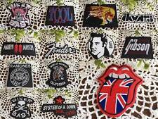 IRON ON Fabric PATCH Badge Rock BANDS Gothic FENDER Gibson Biker ELVIS MUSIC