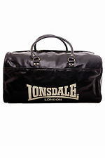 NEW LONSDALE BOXING XL SUMO DUFFEL CRACKED PVC GYM TRAINING TRAVEL BAG RRP $110