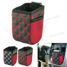 Vehicle Car Air Outlet Storage Bucket Organizer Mobile Phone Rack Debris Bag New