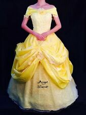 FP132 COSPLAY Belle Dress Princess Tiana Costume tailor made kid adult GOWN