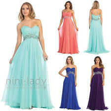 Formal Ball Gowns Party Prom Bridesmaid Long Evening Dress Size 6 8 10 12 14 16