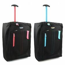 Lightweight Wheeled Cabin Bag Hand Luggage Case Trolly Holdall Flight Suitcase