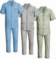 Men's Pajamas Short Sleeve Long Pants 100%Cotton NWT