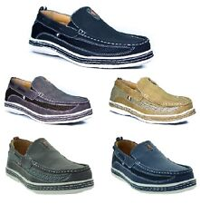 New Mens Boat Shoes Casual Moccasin Slip On Loafers Deck Brixton Dacio goya-2