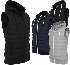URBAN CLASSICS® SMALL BUBBLE HOODED VEST Herren Stepp Kapuzen Weste Light 2-tone