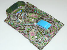 Men's Dress Shirt Paisley Floral LANZINO 100% Cotton Dress Casual #SLP Green