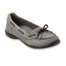 Vionic by Orthaheel Discovery Orthotic Suede Pewter Loafers