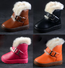 Lovey Child's Kids Winter Warm Girls Boy's Buckle Velcro Snow Ankle Boots Shoes