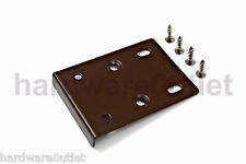 Kitchen Unit Cupboard Wardrobe Cabinet Door Hinge Repair Plates  - 4 Colours