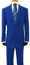 New Men's 2Pc Single Breasted  Basic Suit Two Button 5 Colors 38R~56L