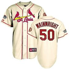 Adam Wainwright 2013 St Louis Cardinals World Series Alternate Ivory Jersey Men