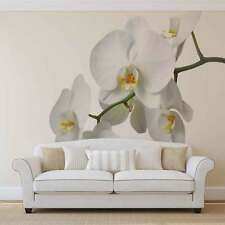 White Orchid Photo Wallpaper Wall Mural (CN-737P)